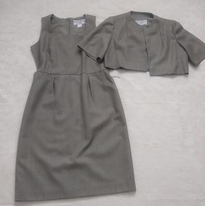 HP🏆2 piece tweed suit lined dress pockets